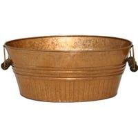 Basin Planter, Copper Metal, 14-In.