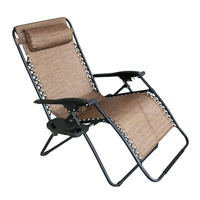 Verona Zero Gravity Chair, E-Coated Steel Frame, Brown, XL