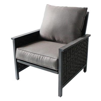 Carrington 2-Pc. Lounge Chair Set, Aluminum/Woven