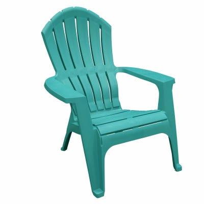 RealComfort Adirondack Chair, Ergonomic, Resin, Teal