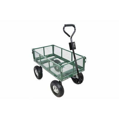 4-Wheel Mesh Garden Cart