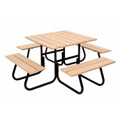 4-Sided Round Tubular Picnic Table Frame