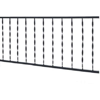 Windsor Plus Railing, Black Wrought Iron, 6-In. Spindle Spacing, 6-Ft.