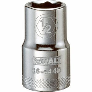 SAE Socket, Shallow, 6-Point, 1/2-In., 1/2-In. Drive