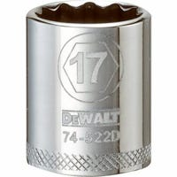 Metric Shallow Socket, 12-Point, 3/8-In. Drive, 17mm