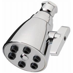Showerhead, Wall-Mount, 6-Spray, Chrome