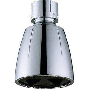 Showerhead, Fixed-Mount, Adjustable Spray, Chrome-Plated Plastic