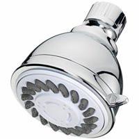 Showerhead, Fixed-Mount, 3-Settings, Chrome Plastic