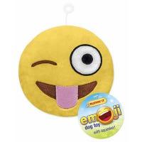 Dog Toy, Plush Emoji, Assorted