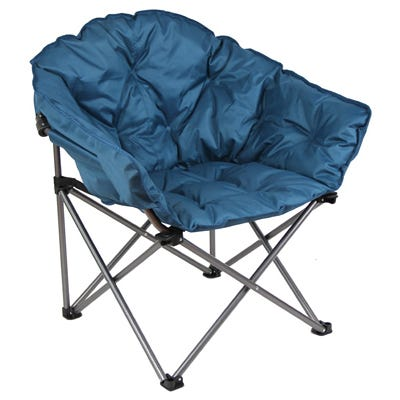 Club Chair, Steel Frame, Padded Seat