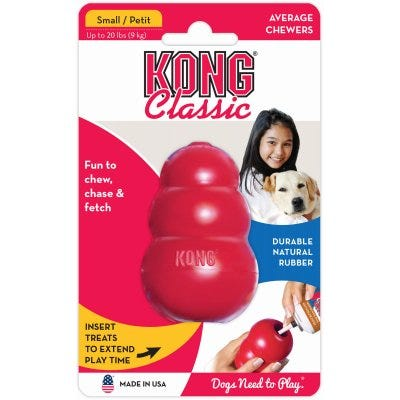 Classic Dog Toy, Red, Small
