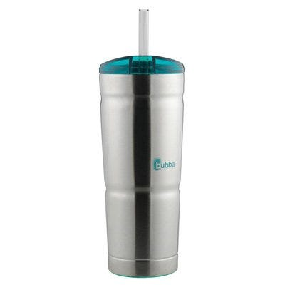 Tumbler, Stainless Steel, Teal, 24-oz.