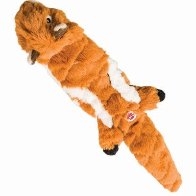 Quilted Chipmunk Stuffing-Free Dog Toy, 14-In.