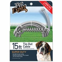 Dog Tie Out, Super Duty, 15-Ft.