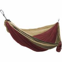 Double Parachute Hammock, Nylon, Crimson/Khaki