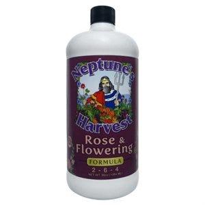 Organic Rose & Flowering Fertilizer, 1-Qt.