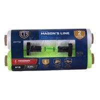 Mason Line Twine, Twisted, Neon Yellow, #18 x 225-Ft., 2-Pk.