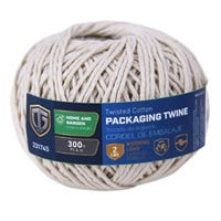 Parcel Post Twine, Twisted Cotton, #9 x 300-Ft.