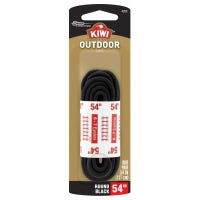 Round Boot Laces, Black, 54-In.