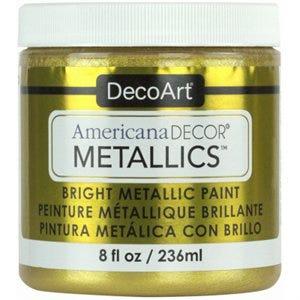 Americana Decor Metallics Craft Paint, 24K Gold, 8-oz.