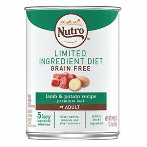Image of Dog Food, Limited Ingredient Diet Grain-Free Lamb & Potato, 12.5-oz.