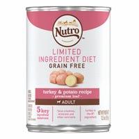 Dog Food, Limited Ingredient Diet Grain-Free Loaf Turkey & Potato, 12.5-oz.