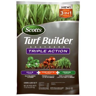 Turf Builder Southern Triple-Action Fertilizer, 4,000-Sq. Ft. Coverage