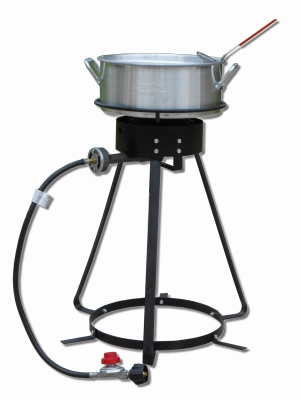 Image of Aluminum Fish Fryer with 24-In. Outdoor Cooker, 10-Qt.