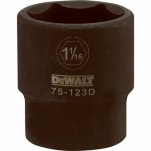 SAE Impact Socket, 6-Point, Black Oxide, 1/2-In. Drive, 1-1/16-In.