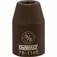 SAE Impact Socket, 6-Point, Black Oxide, 1/2-In. Drive, 3/8-In.