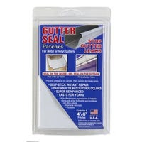 Gutter Seal Patches, Self-Sticking, 4 x 6-In. 4-Pk.