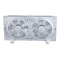 Digital Reversible Twin Window Fan, 3-Speed, 9-In.