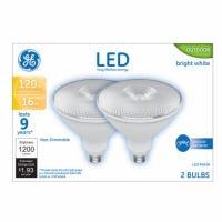 LED Flood Light Bulbs, Bright White, Clear, 1300 Lumens, 16-Watts, 2-Pk.