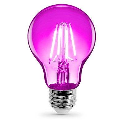 LED Light Bulb, Pink Filament, 3.6-Watt