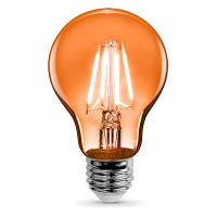 LED Light Bulb, Orange Filament, 3.6-Watt