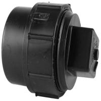 ABS/DWV Cleanout Adapter With Threaded Plug, Spigot x FIP, 3-In.