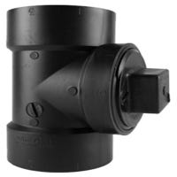 ABS/DWV Clean Out Pipe Tee, Hub x Hub x FPT, 2-In.