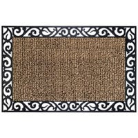 AstroTurf Scraper Doormat, Stems and Leaves, Earth Taupe, 24 x 36-In.