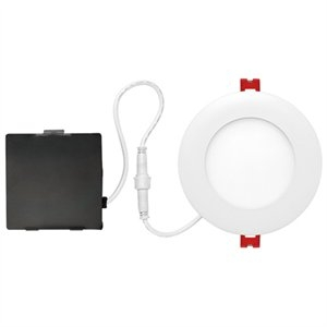 Image of LED Integrated Ultra Slim Recessed Lighting Kit, White Finish, 4-In.