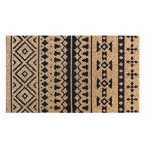 Image of Coir Door Mat, Tribal Print, 18 x 30-In.