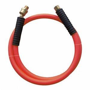 Rubber Whip Hose, 900 PSI Bursting Pressure, 3/8-In. x 6-Ft.
