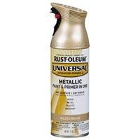 Universal Paint & Primer Metallic Spray Paint, 1-Coat , Gilded Brass, 12-oz.