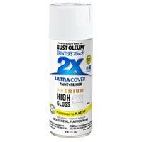 Painter's Touch 2X Premium High-Gloss Spray Paint, White, 12-oz.