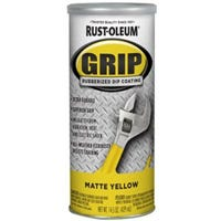 Grip Rubberized Dip Coating, Yellow Matte, 14-oz.