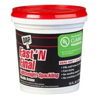 Fast ' N Final Spackling, Lightweight Formula, 1-Pt.