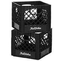 Authentic True Value Logo Milk Crate, 13 x 13 x 11-In.