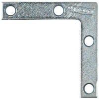 Flat Corner Iron, Zinc, 2 x 3/8-In.