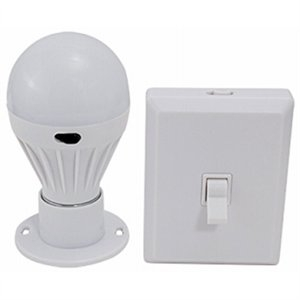 Image of Portable Wireless Light Bulb + Remote