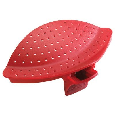 Pot Clip & Drainer, Red