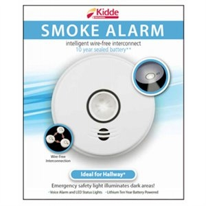 Image of Wireless Smoke Alarm With Light, DC